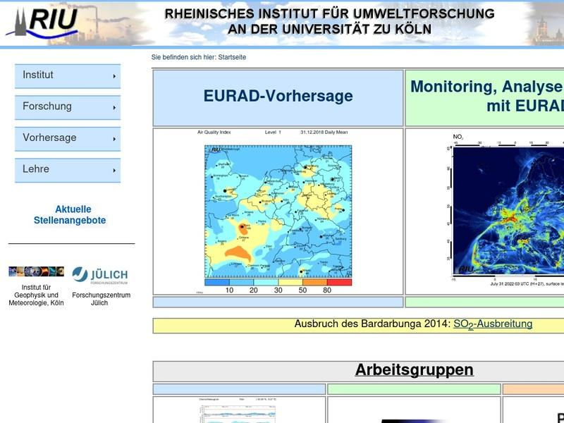 Screenshot von http://db.eurad.uni-koeln.de/de/index.php